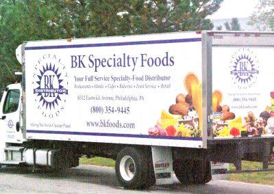 BK Specialty Foods Truck Wrap